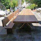 Suar tuintafel met x-poot | Woodindustries
