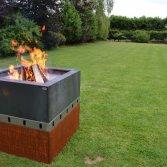 Vuurschaal en grill in één