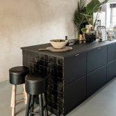 Zwarte keuken tegels | Zellige Noir