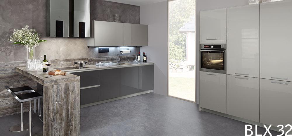 Grijze Keuken Ikea : BLX 32 designkeuken grafietgrijs