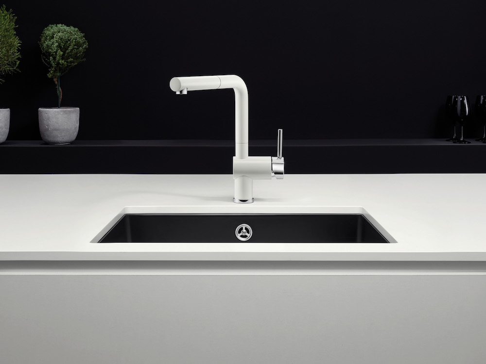 blanco keukenkraan linus s black white editie product in beeld startpagina voor keuken. Black Bedroom Furniture Sets. Home Design Ideas