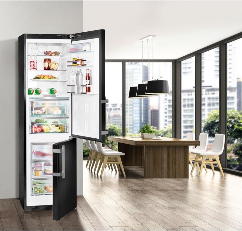 liebherr blacksteel koel vriescombinatie cbnpbs 4858 premium product in beeld startpagina. Black Bedroom Furniture Sets. Home Design Ideas