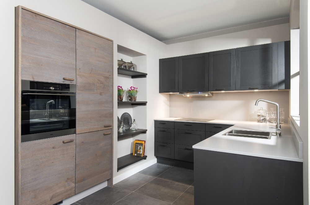 Long Island Kitchens houten keuken donkergrijs