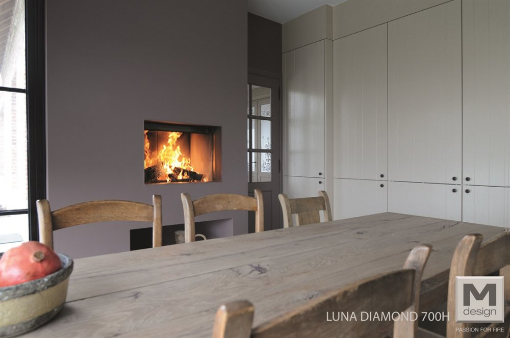 M-design liftdeurhaard Luna Diamond horizontaal