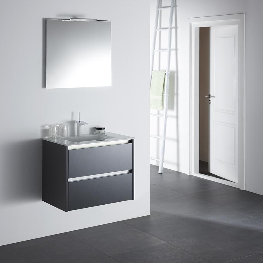 Badkamer kleine badkamers ideeen : Primabad badkamermeubel Dreamz glazen wastafelblad - Product in beeld ...