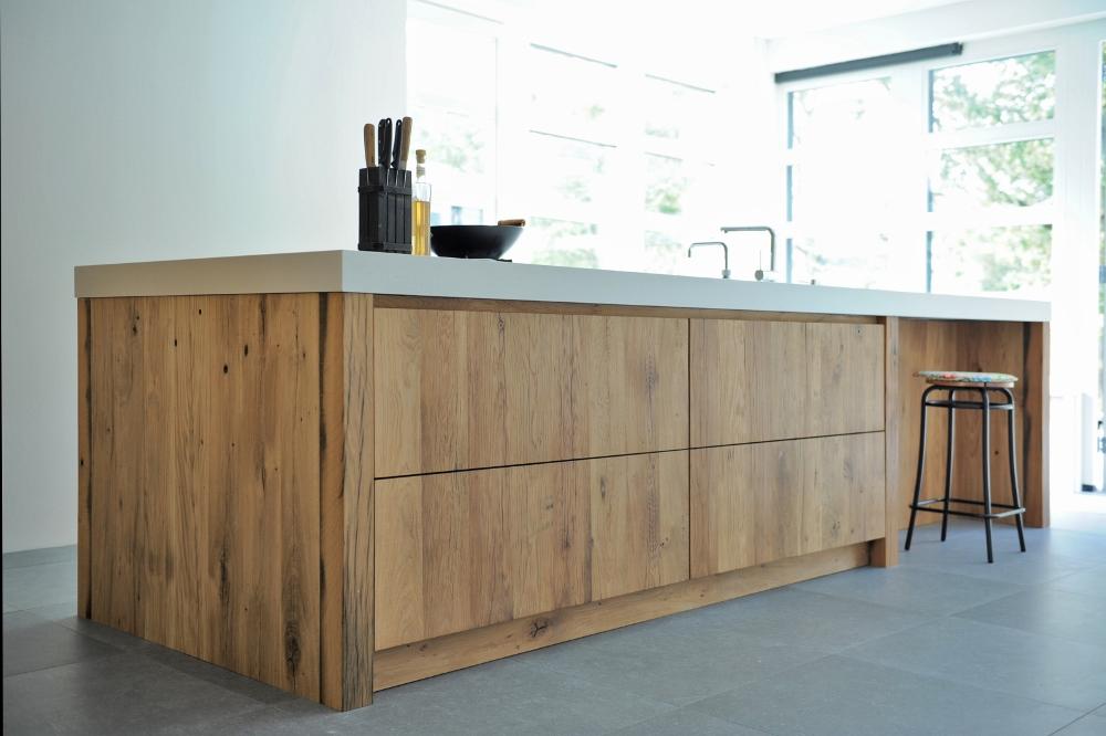 Restylexl houten keuken van wagondelen uw keuken.nl