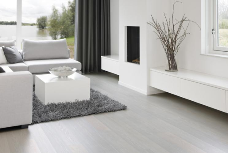 Solidfloor Pearl White Lamelparket