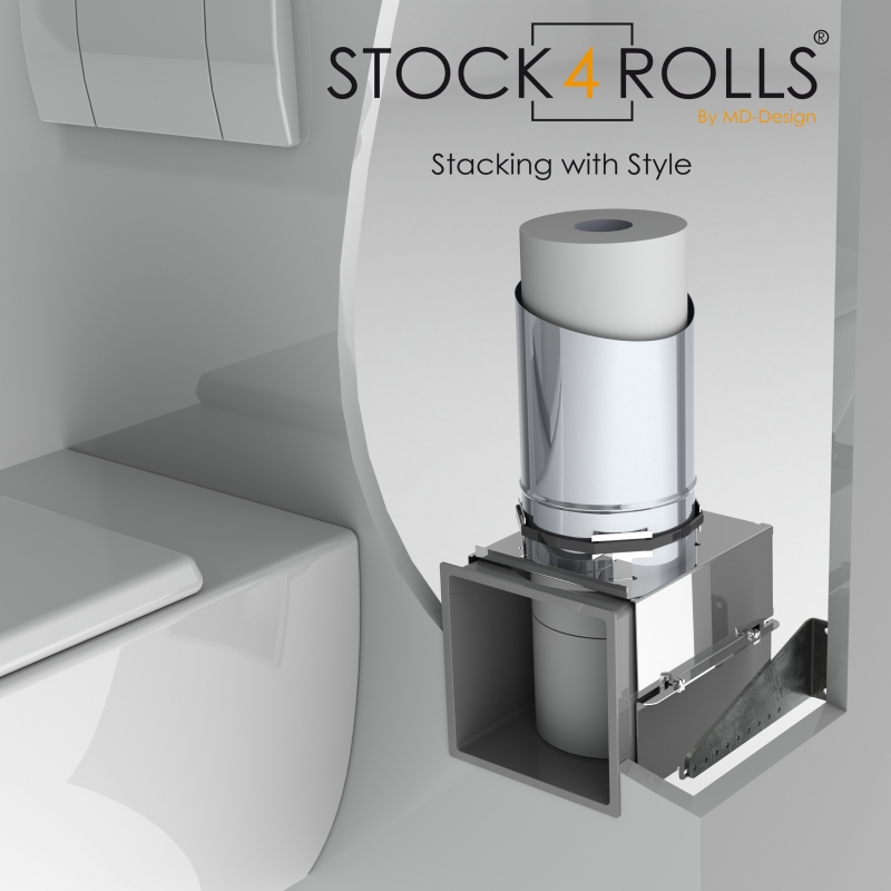 Stock4Rolls inbouw reserve closetrol dispenser