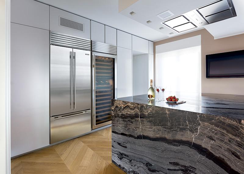 Sub-zero ICBBI-36UFD dubbeldeurs koelkast met vrieslade