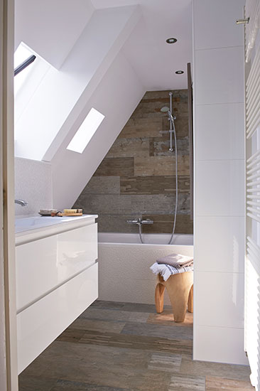 Vt wonen tegels old wood kol tegels badkamer idee n for Inrichting badkamer 3d