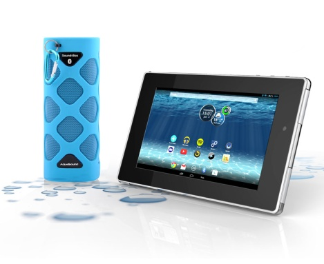 Waterdichte tablet met soundbox TEC2716W