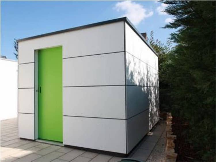 Trespa buiten box | A-tuinhuis