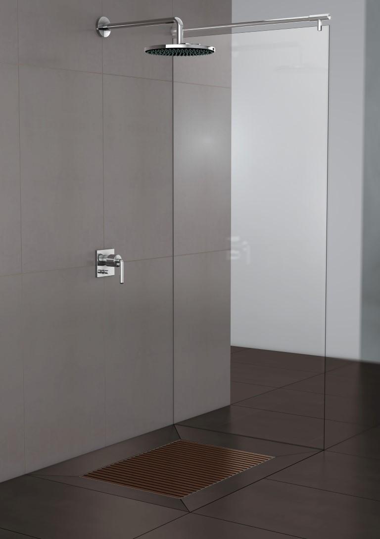 Mozaiek Patronen Badkamer ~ ACO douchevloer ShowerDrain Walk in met afvoer  Product in beeld
