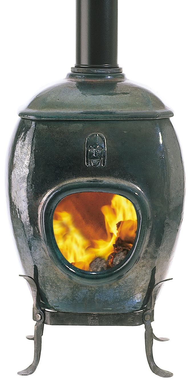 African Flame Green Raku