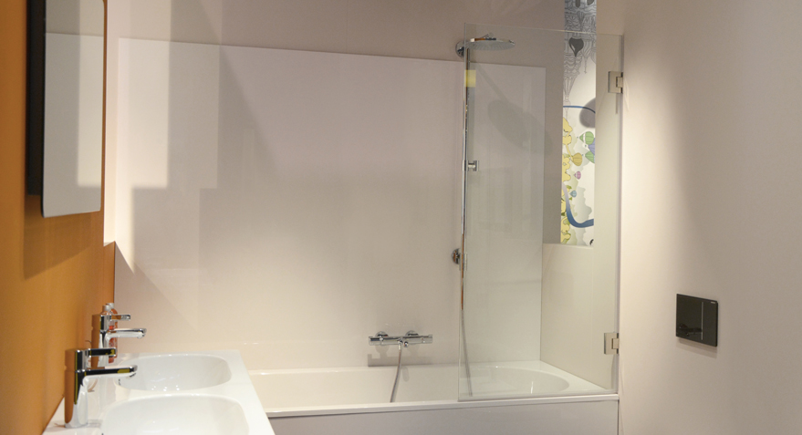 Woonidee over badkamer idee n uw woonidee - Muurpanelen badkamer ...