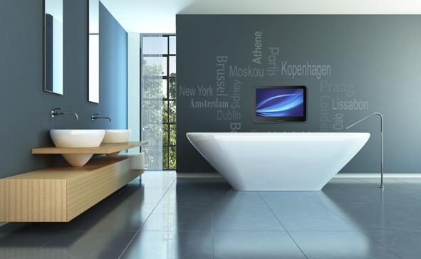 Badkamer LED TV...nooit meer naar een lege muur staren