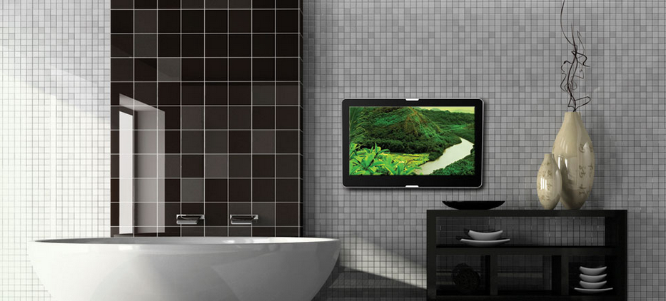 Inbouw of opbouw badkamer TV | AquaSound