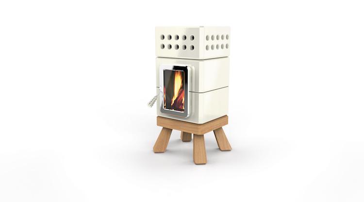 Mini houtkachel van geglazuurd keramiek | Stack Stoves