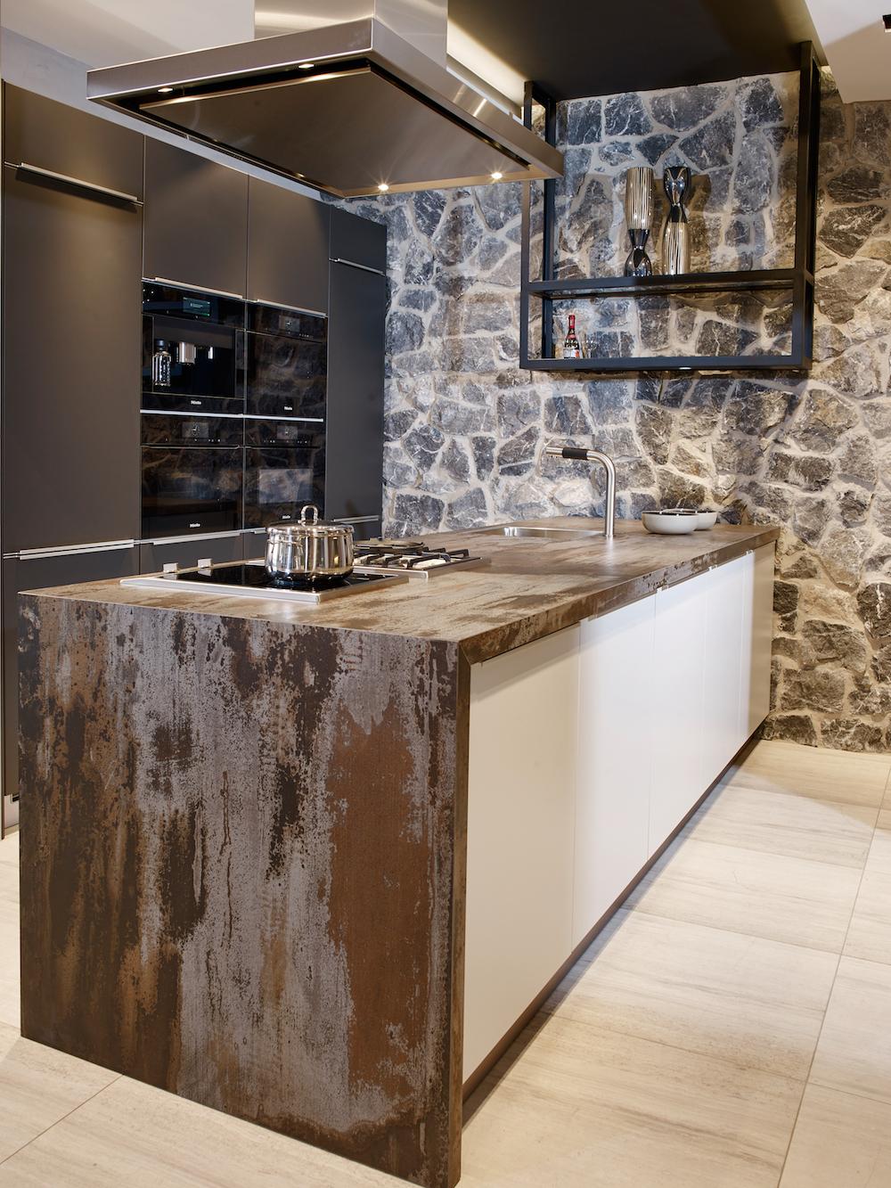 Duurzame werkbladen in moderne keuken