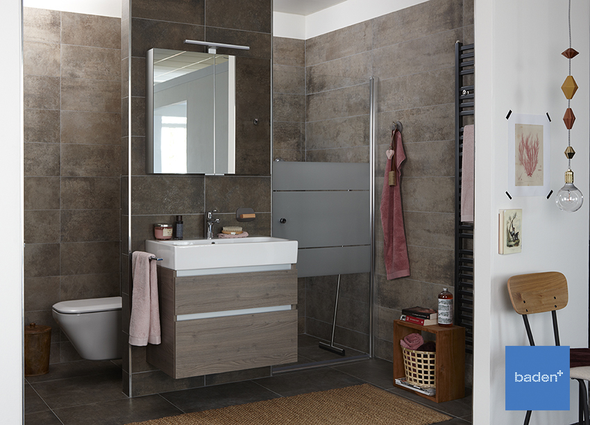 Baden+ kleine badkamer