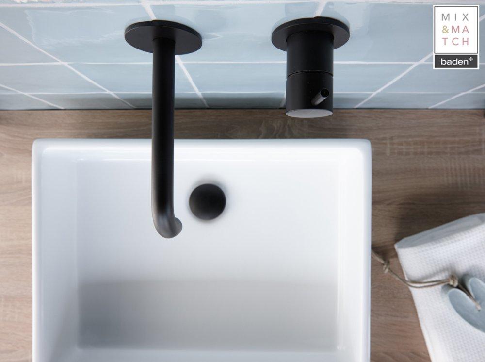 baden moderne badkamer in landelijke stijl product in beeld