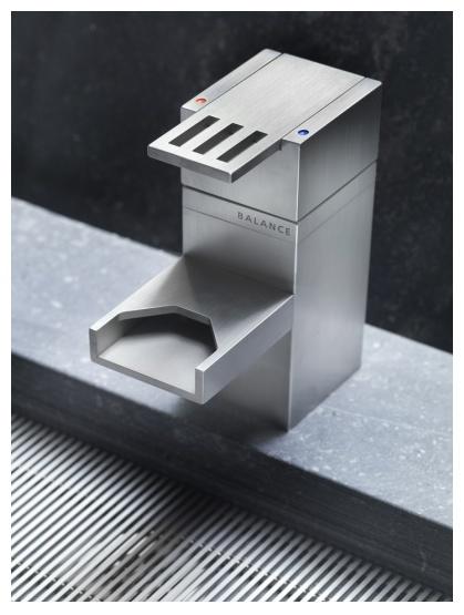 Balance kraan Steel taps square