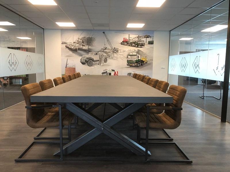Beton vergadertafel