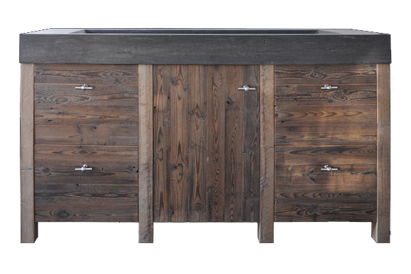 Betonnen wasbak met houten badkamermeubel  Product in beeld  Startpagina vo # Wasbak Plieger_142236