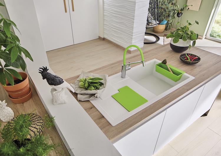 Kleuraccenten in de keuken | Blanco