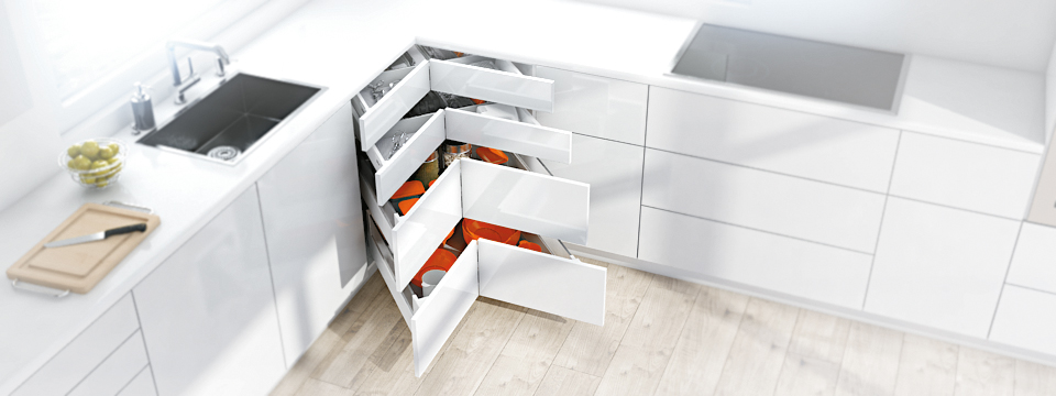 Blum Space Corner de ergonomische keuken hoekkast