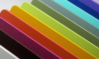 Bokmerk Aluminium achterwand in tal van kleuren