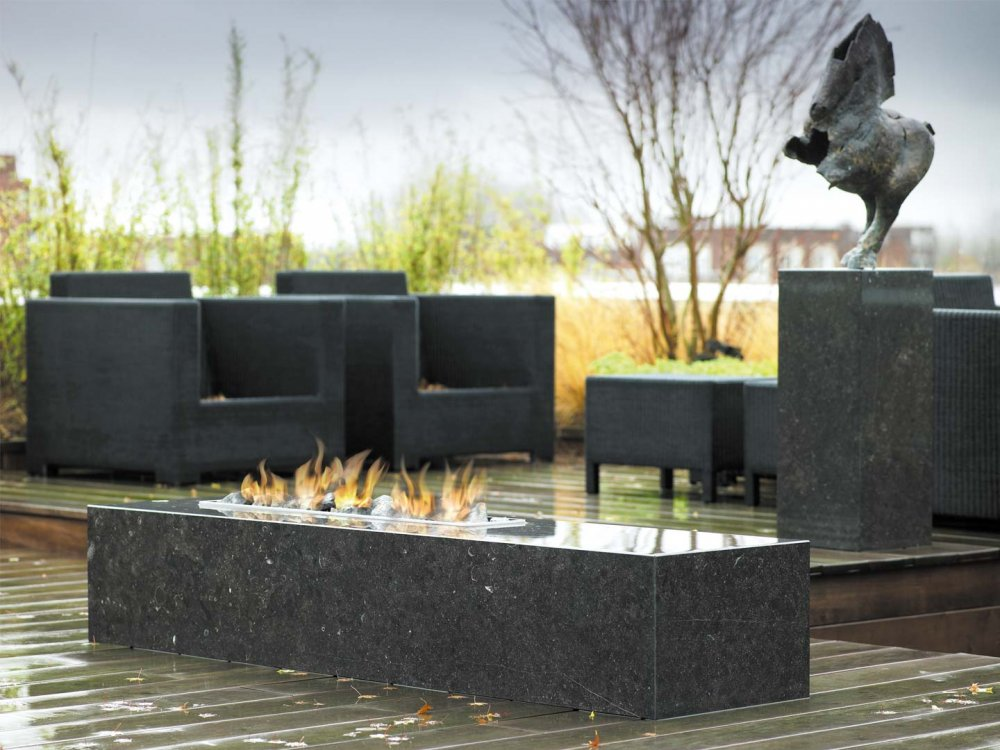 Boley buitenhaard-tafel natuursteen