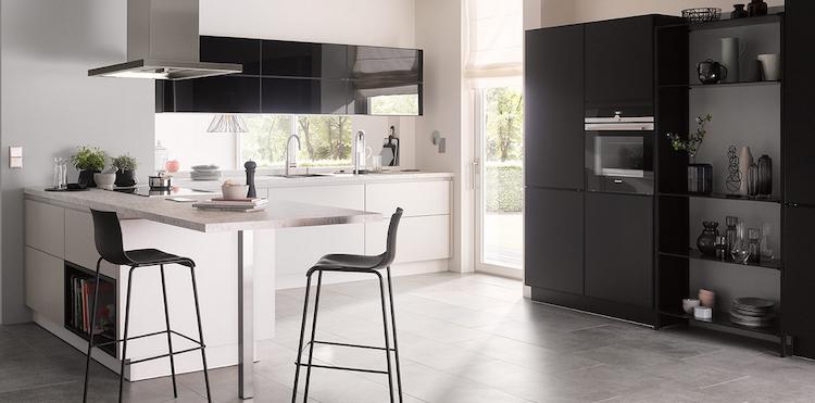 Moderne keuken in zwart-wit | Brigitte Keukens