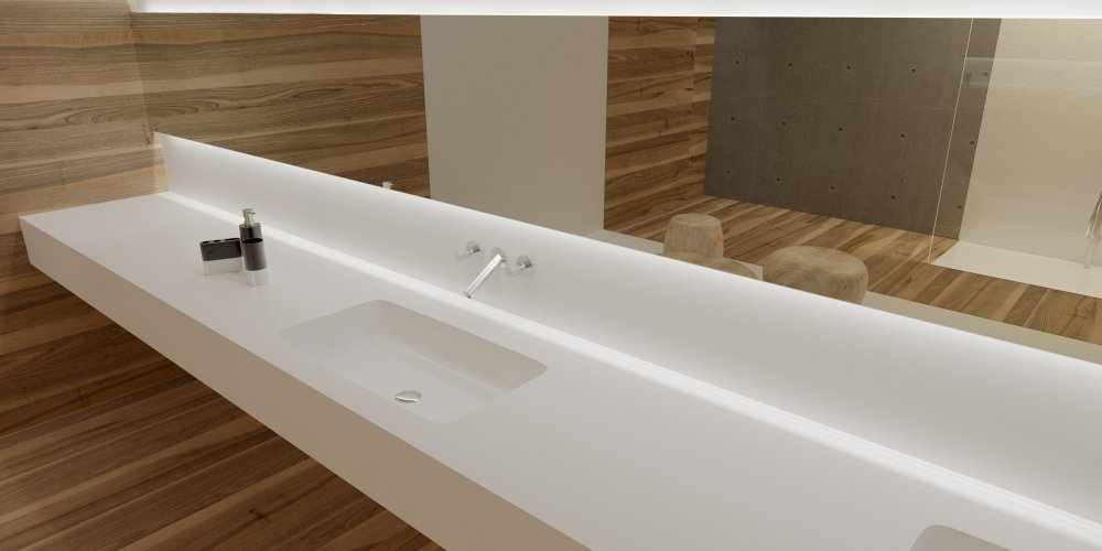 BURGMANS® Puurwit solid surface wastafels