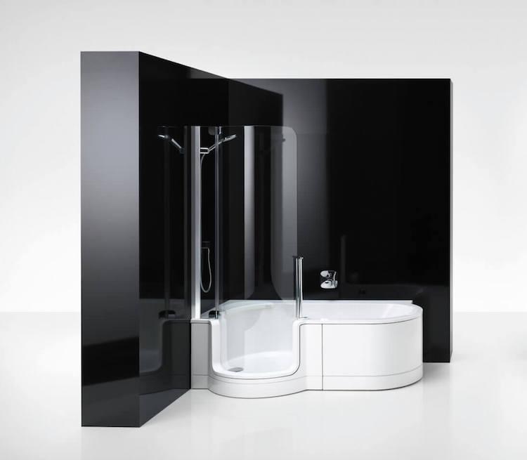 Douchen en baden in één