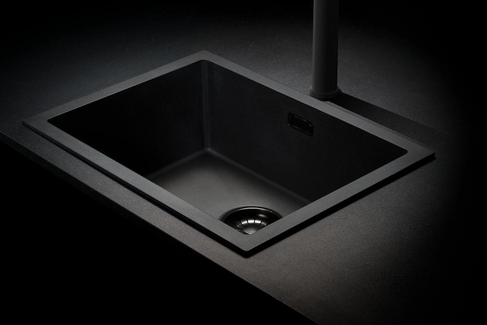 Caressi Black Line zwarte spoelbakken  Product in beeld  Startpagina voor k # Smeg Wasbak_174035