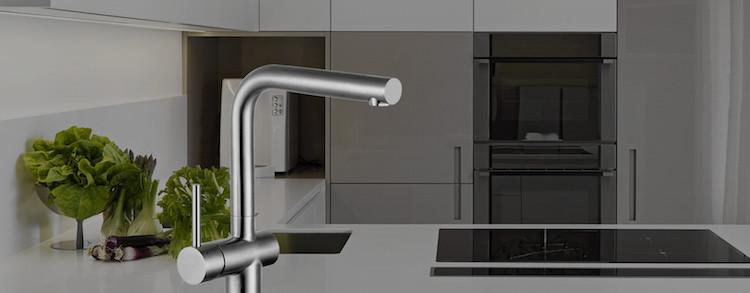 Keukenkraan met twee standen hendel