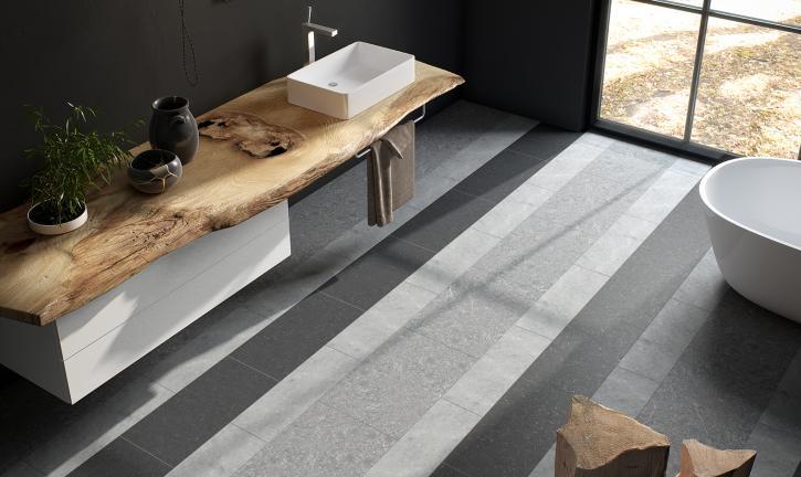 Speelse vloer van natuursteen | Carrieres du Hainaut