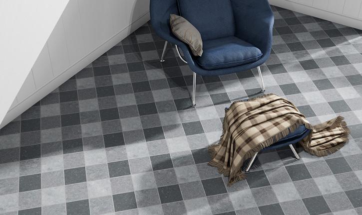 Blauwe steen moderne vloer | Carrieres du Hainaut