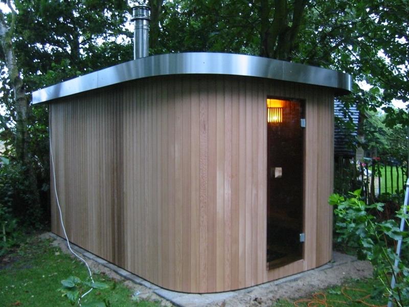 Cerdic houten buiten Sauna