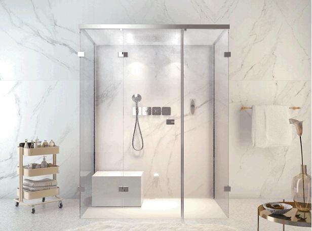 Cleopatra flex seat zitelement douche product in beeld startpagina voor badkamer idee n uw - Badkamer modellen met italiaanse douche ...