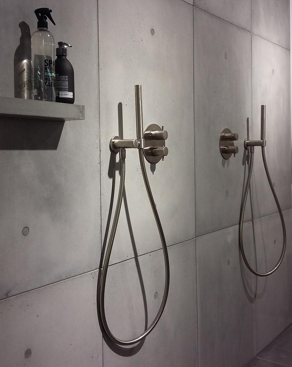 ConcreetDesign betonnen wandpanelen douche
