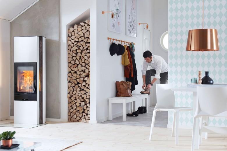 Contura 35 hoog wit houtkachel