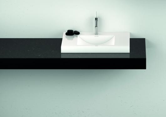Cross Tone Solid Surface maatwerk wastafel