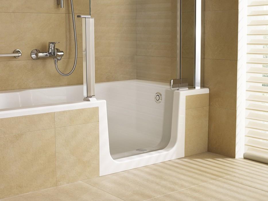 Burgmans roomsaver instapbad product in beeld startpagina voor badkamer idee n uw - Badkamer met italiaanse douche en bad ...