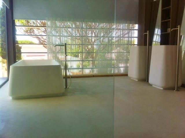 Design Beton vloer badkamer