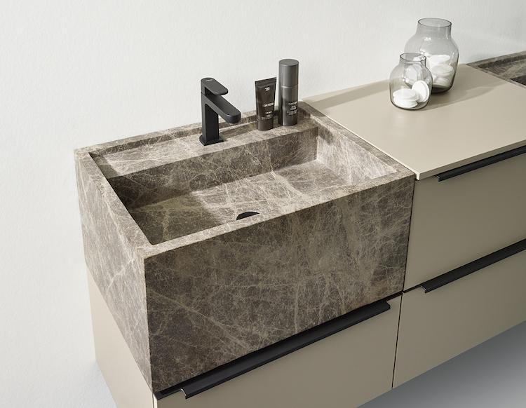 Marmer wastafels en opzetkommen | Detremmerie