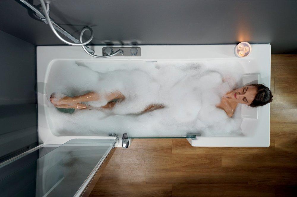 Onwijs Duo Douche en bad combinatie - UW-badkamer.nl ZR-17