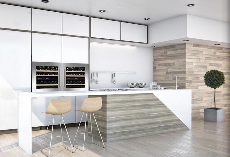 Moderne inbouw wijnklimaatkasten