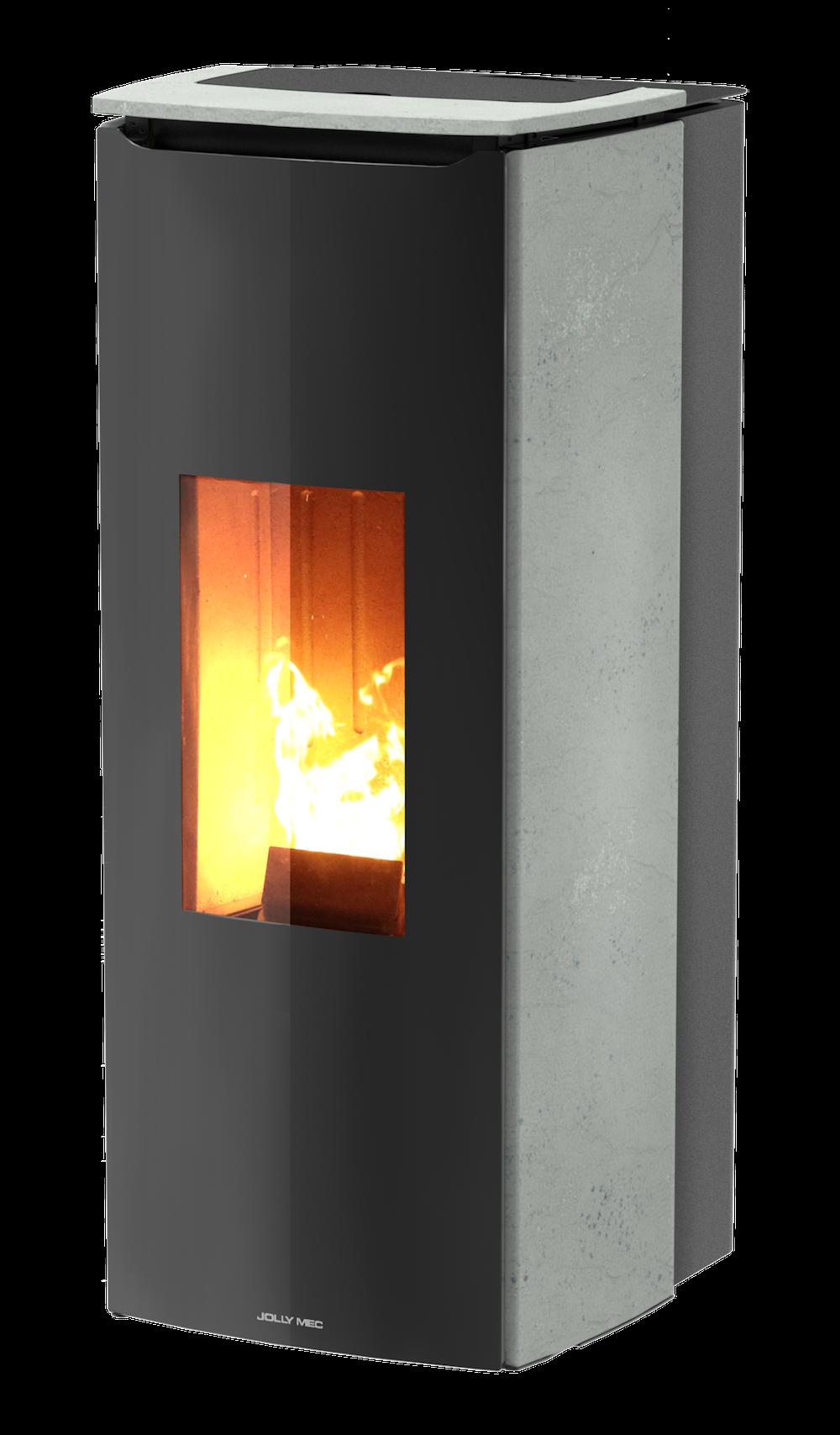 eco2all jolly mec odette pelletkachel product in beeld. Black Bedroom Furniture Sets. Home Design Ideas